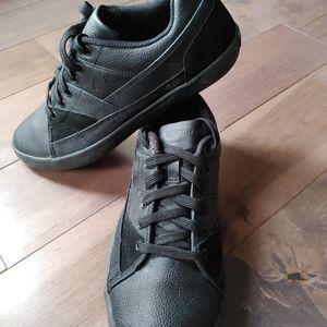 Skechers Mens Athletic lace up sneakers Black 10